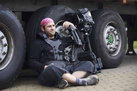 Cameraman take a rest