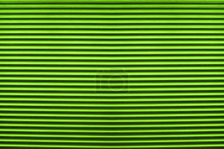 Texture of colorful green plastic shutters for abstract elements