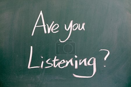 """Are you listening"" on blackboard"