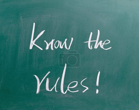 Know the rules sign on blackboard