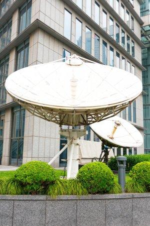 White satellite station