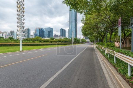 The century avenue of street scene in Shanghai