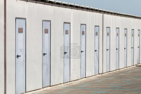 Photo for Group of warehouses for rent on wharf - Royalty Free Image