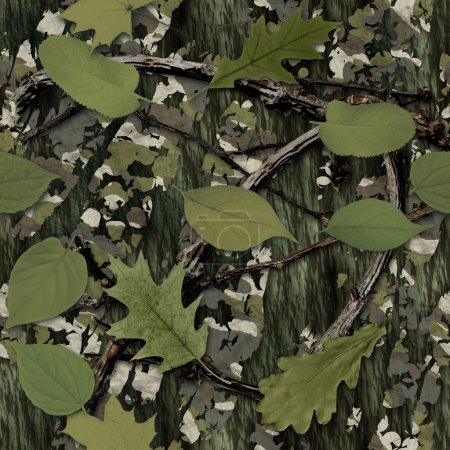 Foto de Azulejo de textura transparente camuflaje natural - Imagen libre de derechos