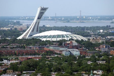 Aerial view, Montreal Biodome, Montreal city, Quebec, Canada