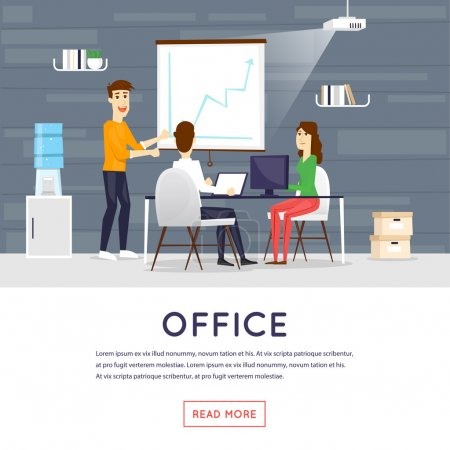 Office workplace banner