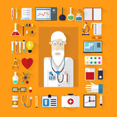Set icons medicine flat design with long shadow Design elements for mobile web applications Banners medicine ?olored background