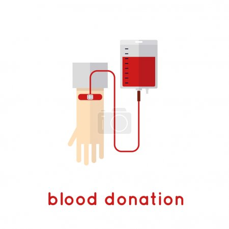 Blood donation icons