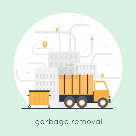 Garbage collection in city
