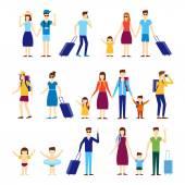 Lidé cestují s dětmi