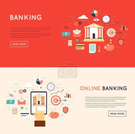 Online banking theme