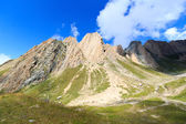 Mountain range panorama with Rote Saule in the Hohe Tauern Alps, Austria