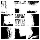 Grunge black textures set on white background for design