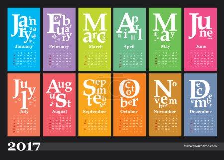 Jazzy creative calendar 2017