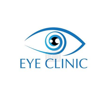 Illustration pour Modèle de conception de vecteur de vision oculaire - image libre de droit