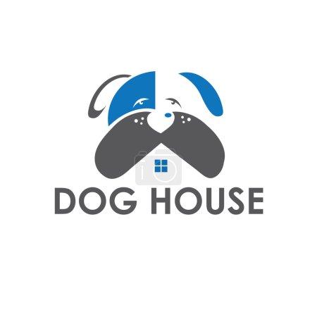 Dog house vector design template
