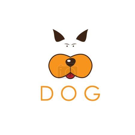 dog head icon vector
