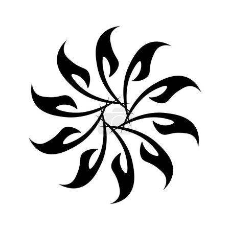 Photo for Black circular fractal circle tattoo - Royalty Free Image