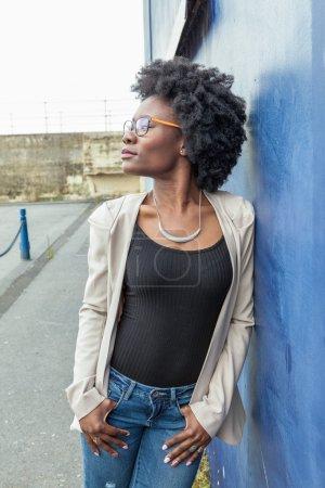 Beautiful african woman outdoors