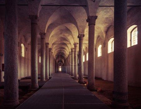 Ancient Stables, designed by Leonardo da Vinci, in Vigevano, Ita