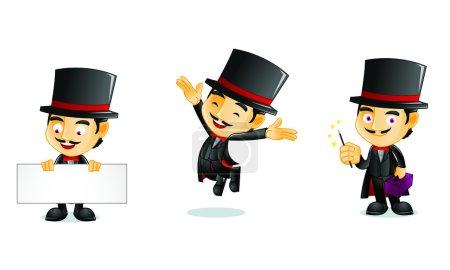 Illustration pour Mascotte de magicien 1 pour votre entreprise - image libre de droit