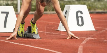 Photo for Sprint start in track and field - Royalty Free Image