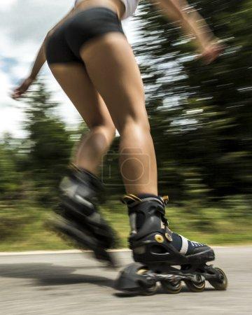 Athlete on Inline-Skates
