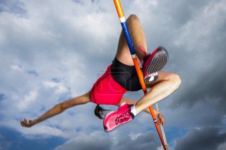 Photo pour RathHochspringerin dans der athlétisme - image libre de droit