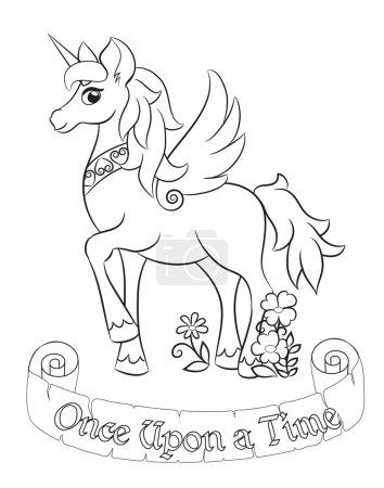Fabulous white unicorn.
