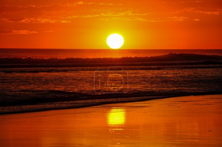 Beautiful sunsets of Playa el Cuco, El Salvador
