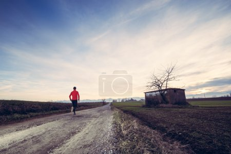 Trail running in the country