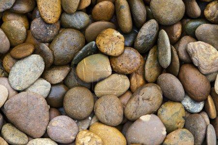 Photo pour Texture de fond de la piscine jardin pile de cailloux - image libre de droit