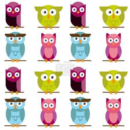 Owls  cute pattern