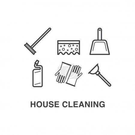 House cleaning icons set 3