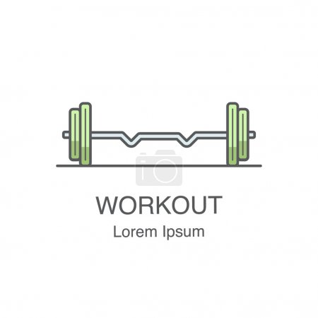 Fitness dumbbells for productive workout. Bodybuilding logo concept.