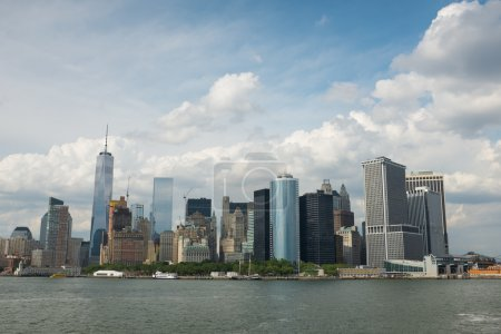 A view on the island of Manhattan, New York city, ...