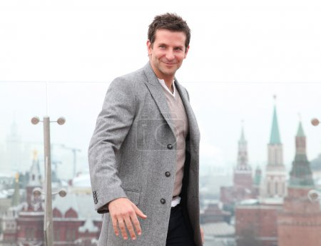 """Photo for Bradley Cooper. Moscow. promo-tour """"Scam on the American"""". 05.02.2014 - Royalty Free Image"""