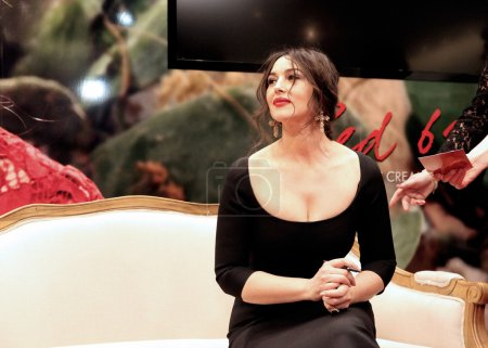 Monica Bellucci at the opening of the boutique of Dolce & Gabban