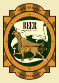 Beer label design with griffin Beer design Label contains images of griffin beer label pattern on vintage background