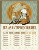 Beer menu design