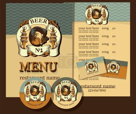 Beer design set.