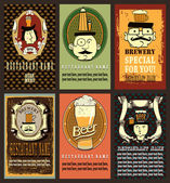 beer labels design set