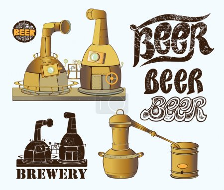 Set for brewery design
