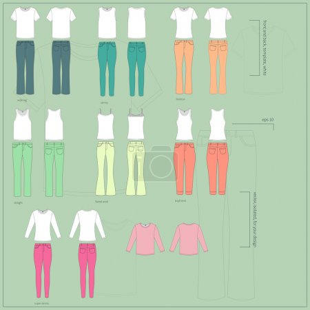 set of women's clothes