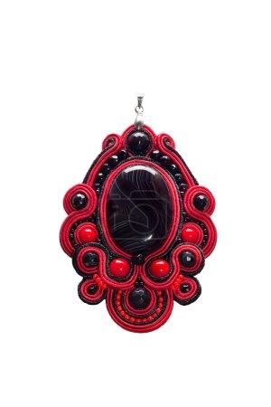 Pendant with black stone