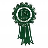 Happy 14 August badge