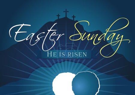 Easter sunday holy week navy blue banner