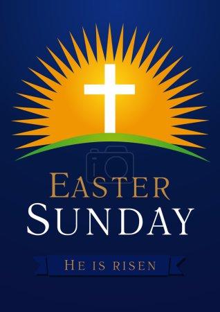Easter Sunday calvary sun card