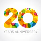 20 years anniversary circle colorful logo