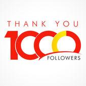 Thank you 1000 followers logo